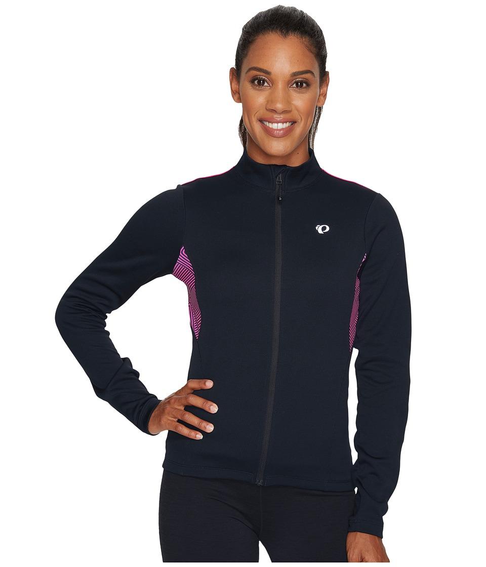 Pearl Izumi - Sugar Thermal Printed Jersey (Black/Screaming Pink) Women's Clothing