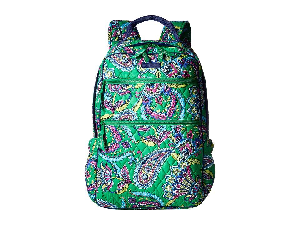 Vera Bradley - Tech Backpack (Emerald Paisley) Backpack Bags