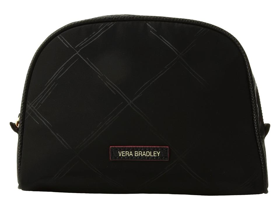 Vera Bradley - Preppy Poly Medium Cosmetic (Black) Cosmetic Case