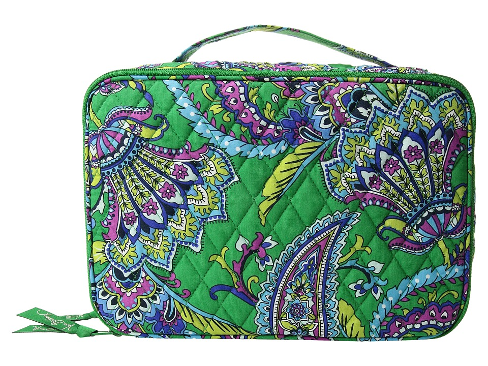 Vera Bradley - Large Blush Brush Makeup Case (Emerald Paisley) Cosmetic Case