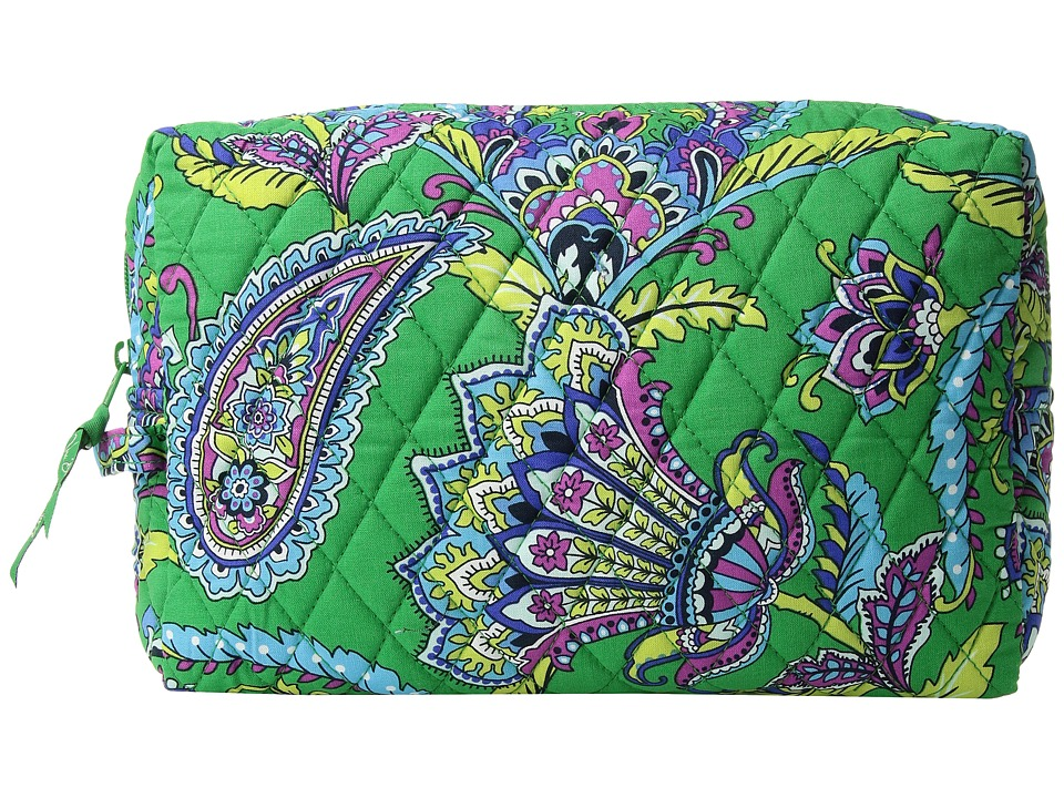 Vera Bradley - Large Cosmetic (Emerald Paisley) Cosmetic Case