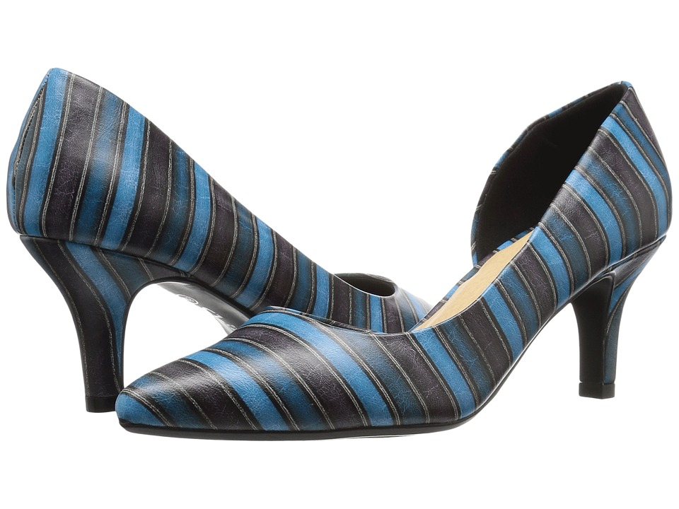 CL By Laundry Estelle (Blue Stripe) High Heels