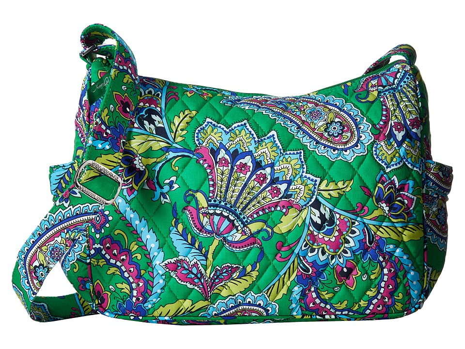 Vera Bradley - On the Go (Emerald Paisley) Cross Body Handbags