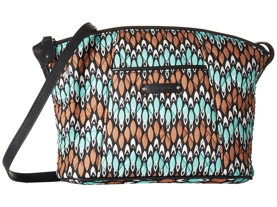Vera Bradley - Curvy Crossbody (Sierra Stream) Cross Body Handbags