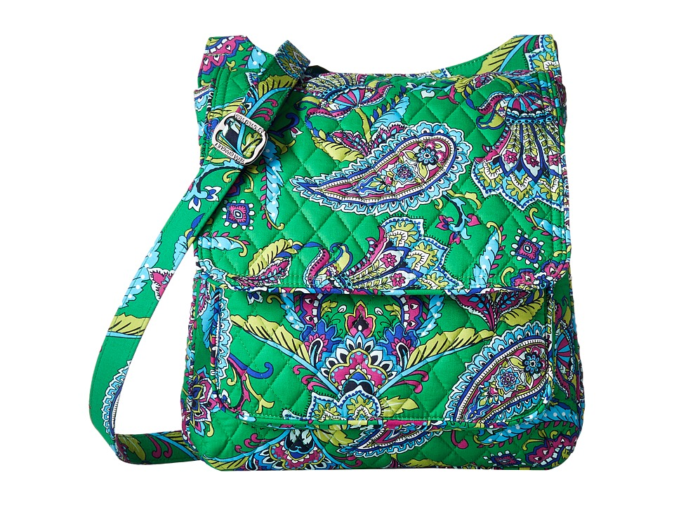 Vera Bradley - Mailbag (Emerald Paisley) Cross Body Handbags