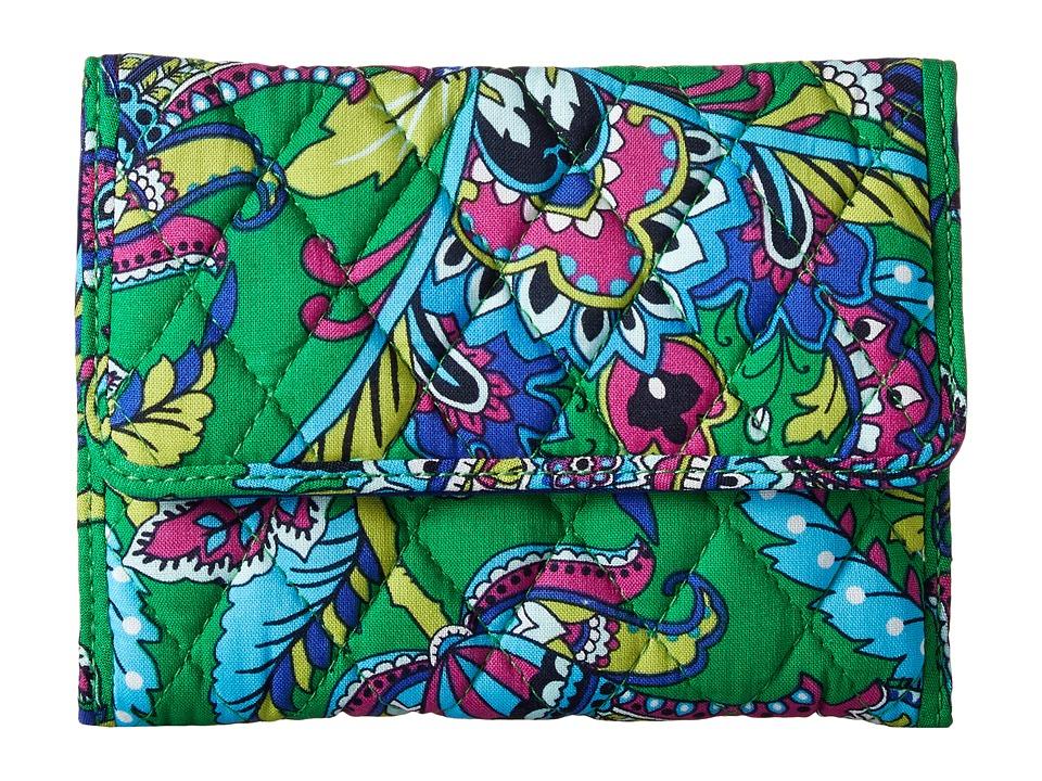 Vera Bradley - Euro Wallet (Emerald Paisley) Wallet Handbags