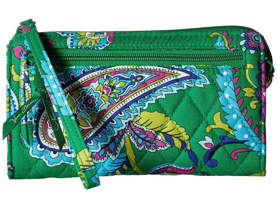 Vera Bradley - Front Zip Wristlet (Emerald Paisley) Wristlet Handbags