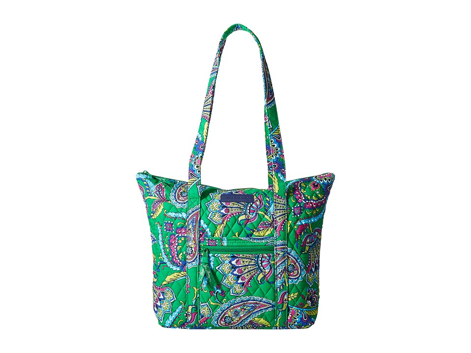 Vera Bradley - Villager (Emerald Paisley) Tote Handbags