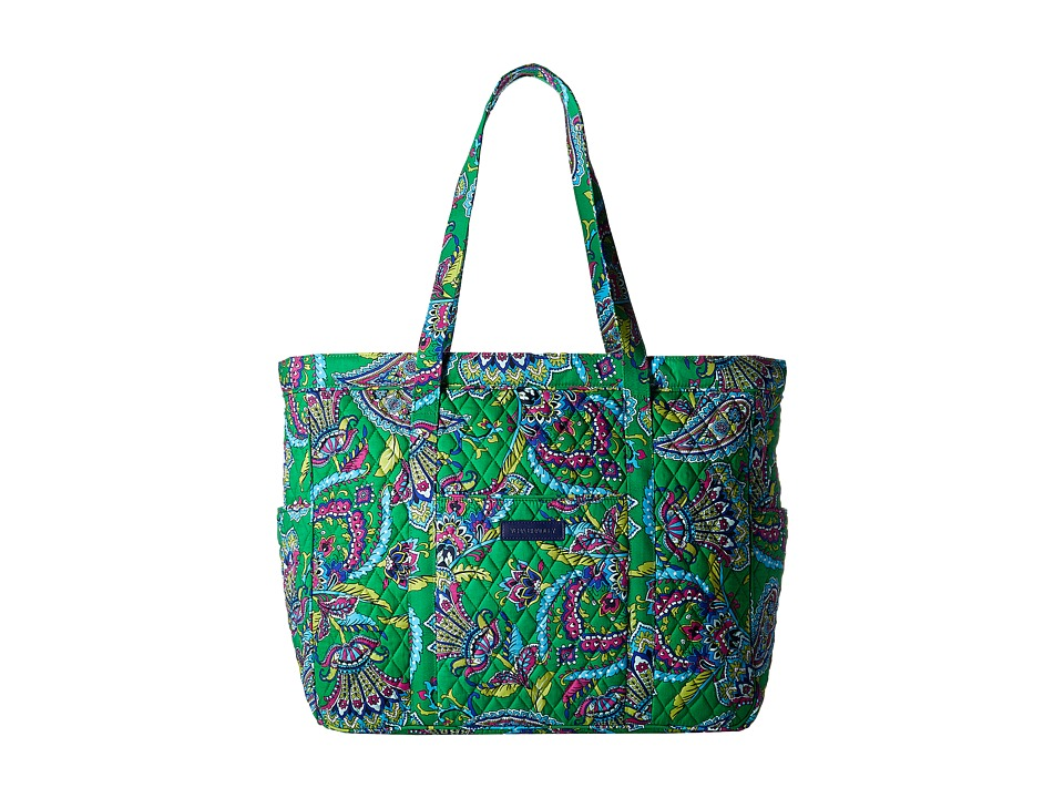 Vera Bradley - Get Carried Away Tote (Emerald Paisley) Tote Handbags