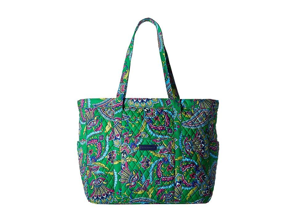 Vera Bradley - Get Carried Away Tote (Emerald Paisley) Tote Handbags