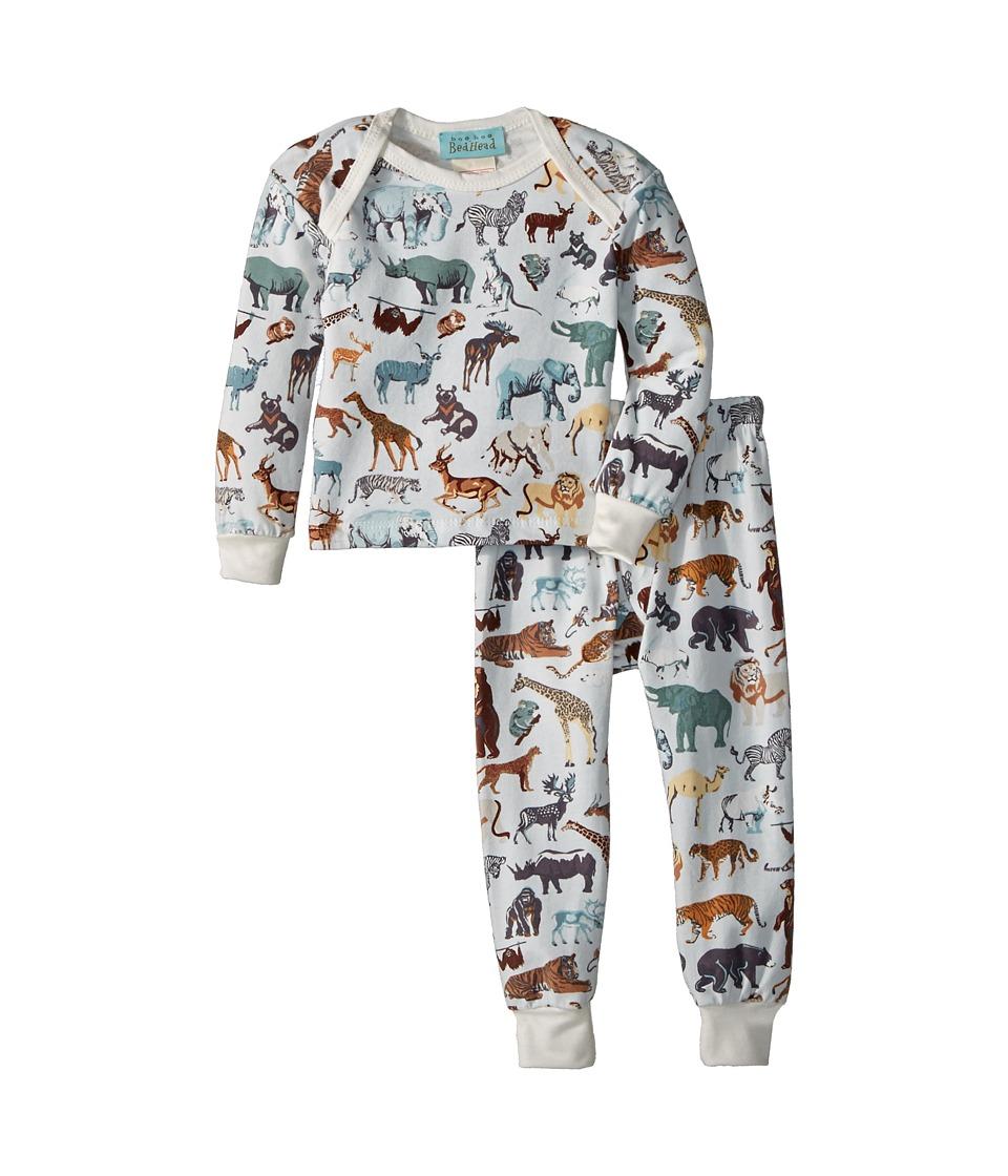 Image of BedHead Kids - Booboo Long Sleeve Long Pants Set (Infant) (Wildlife) Boy's Pajama Sets