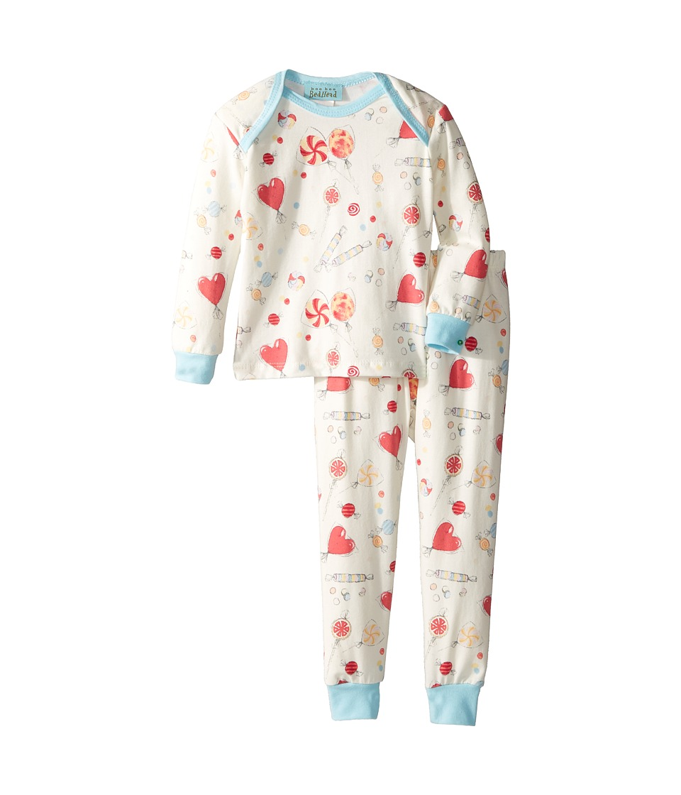 Image of BedHead Kids - Booboo Long Sleeve Long Pants Set (Infant) (Sweet Tooth) Girl's Pajama Sets