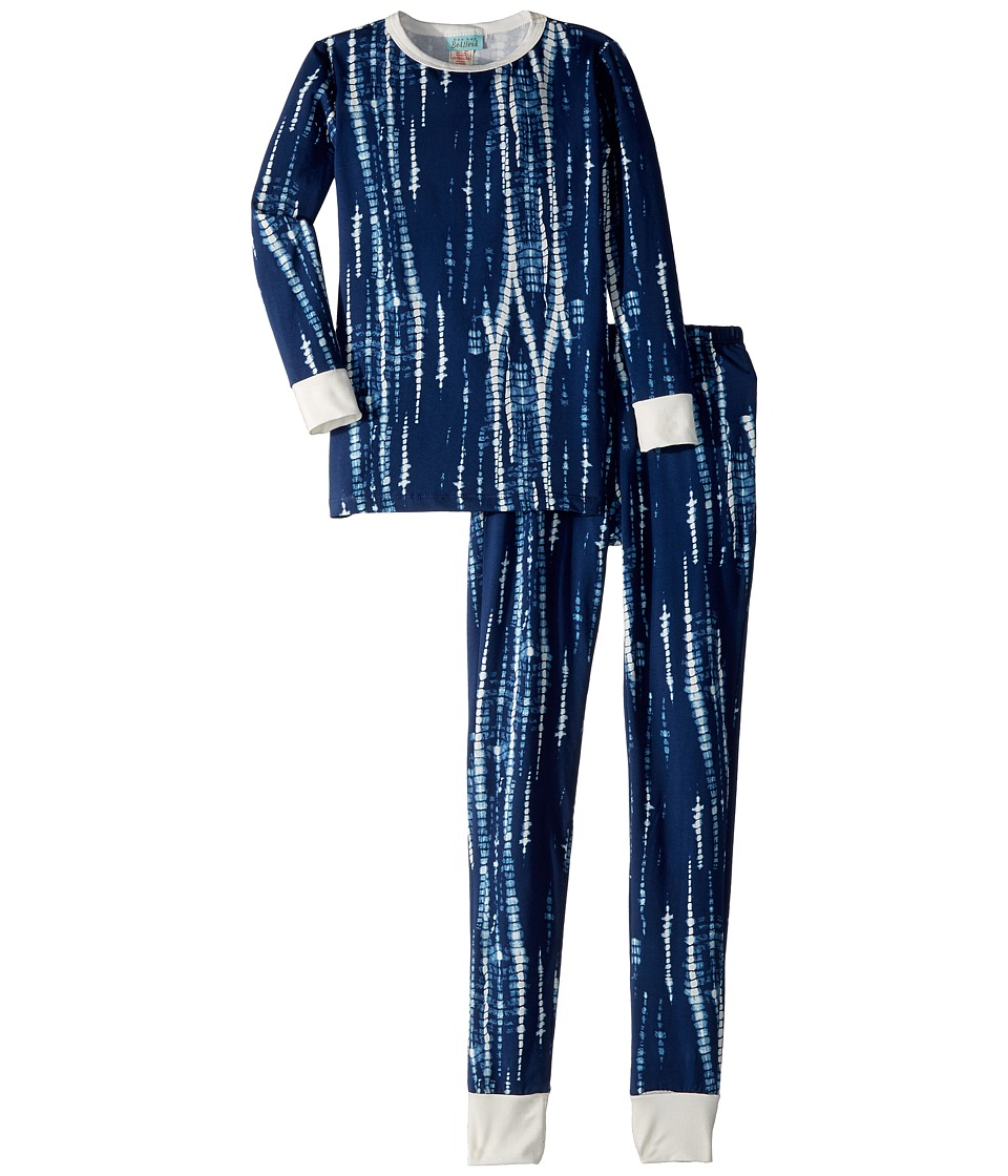 Image of BedHead Kids - Long Sleeve Long Pants Set (Big Kids) (Midnight Indigo) Boy's Active Sets