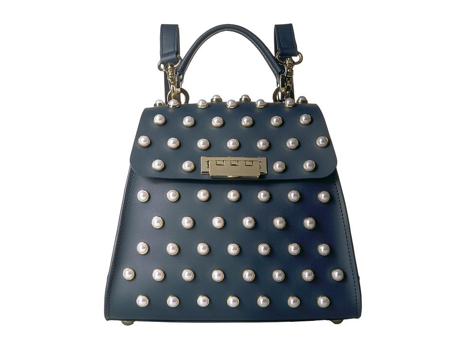 ZAC Zac Posen - Eartha Iconic Convertible Backpack (Navy) Handbags