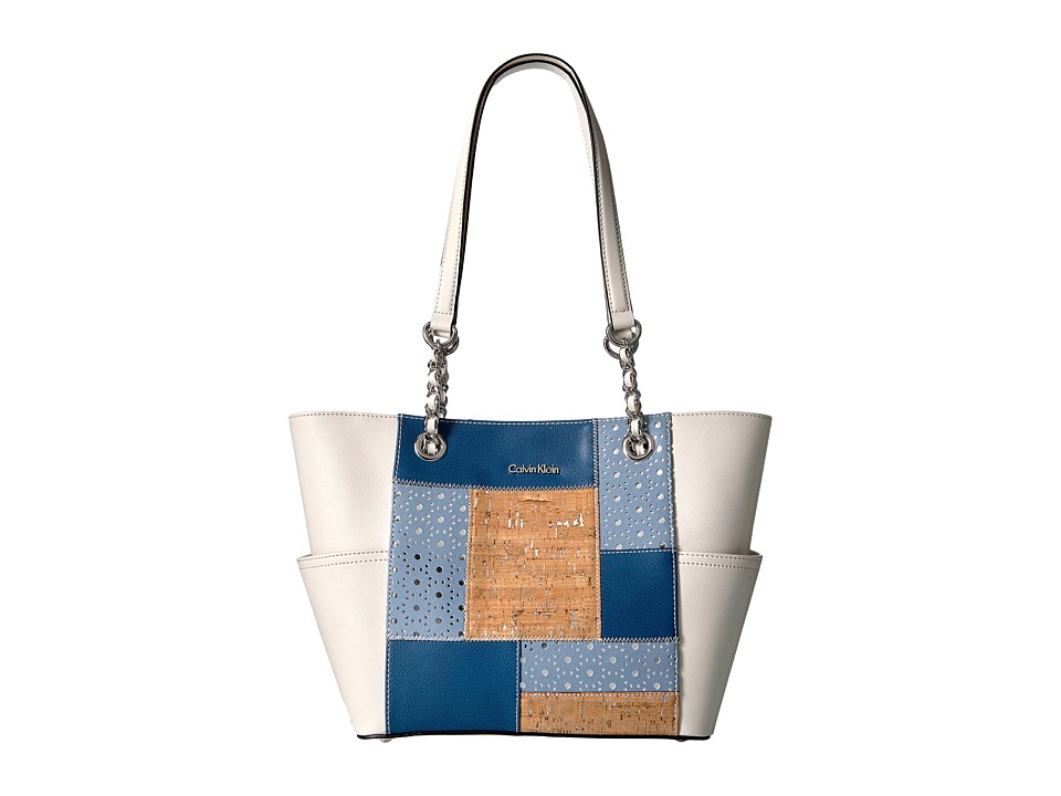 Calvin Klein - Key Item Patchwork Tote (Denim) Tote Handbags