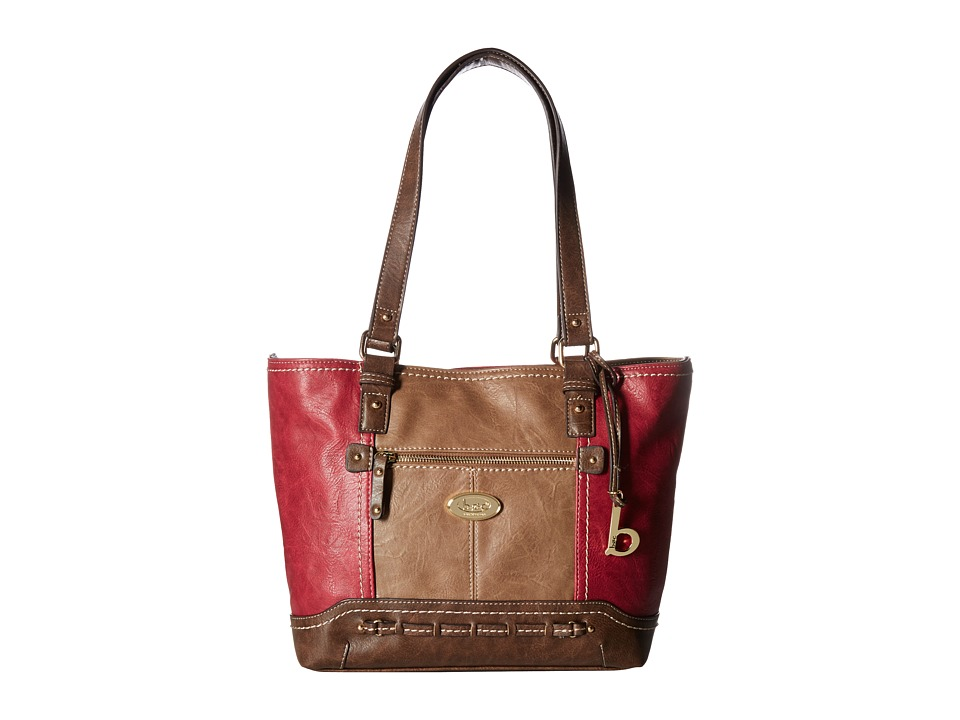 b.o.c. - Melville Tote with Power Bank (Burgundy) Tote Handbags