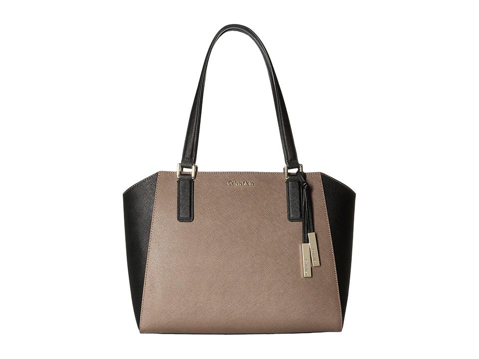 Calvin Klein - Key Item Saffiano Tote (Mushroom) Tote Handbags