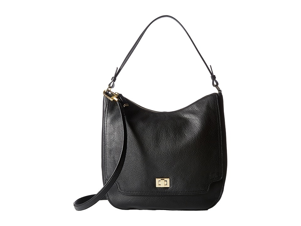 Calvin Klein - Ashley Pebble Hobo (Black) Hobo Handbags