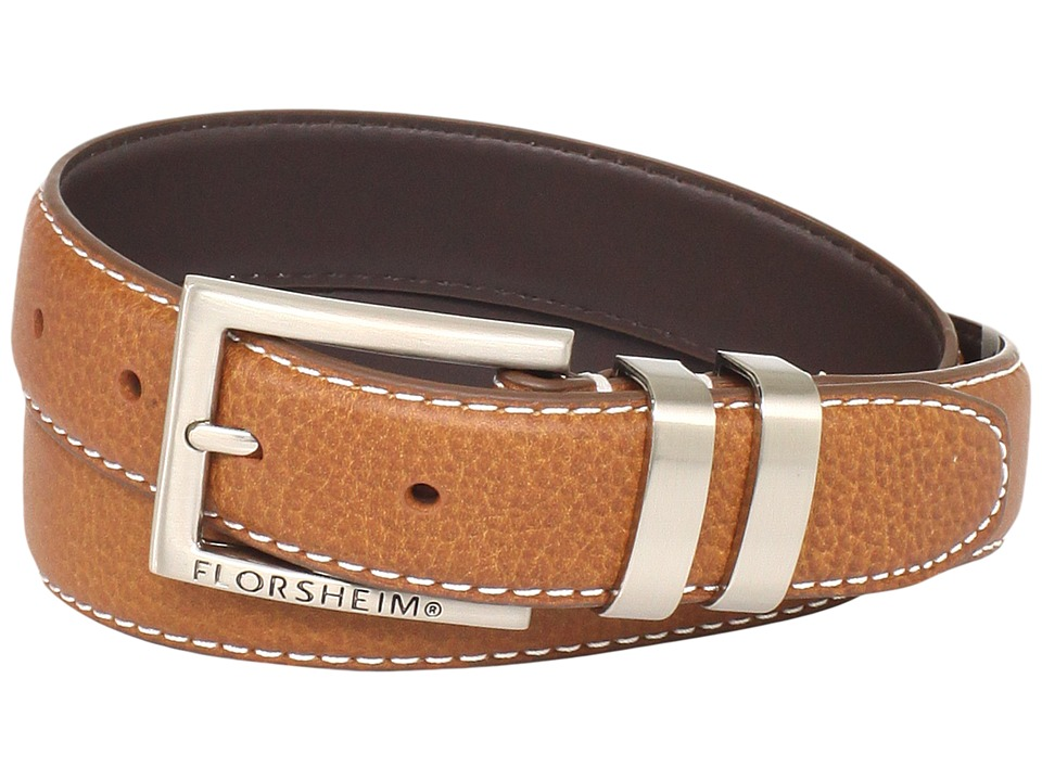 Florsheim - 32mm Full Grain Leather Belt (Cognac) Men's Belts