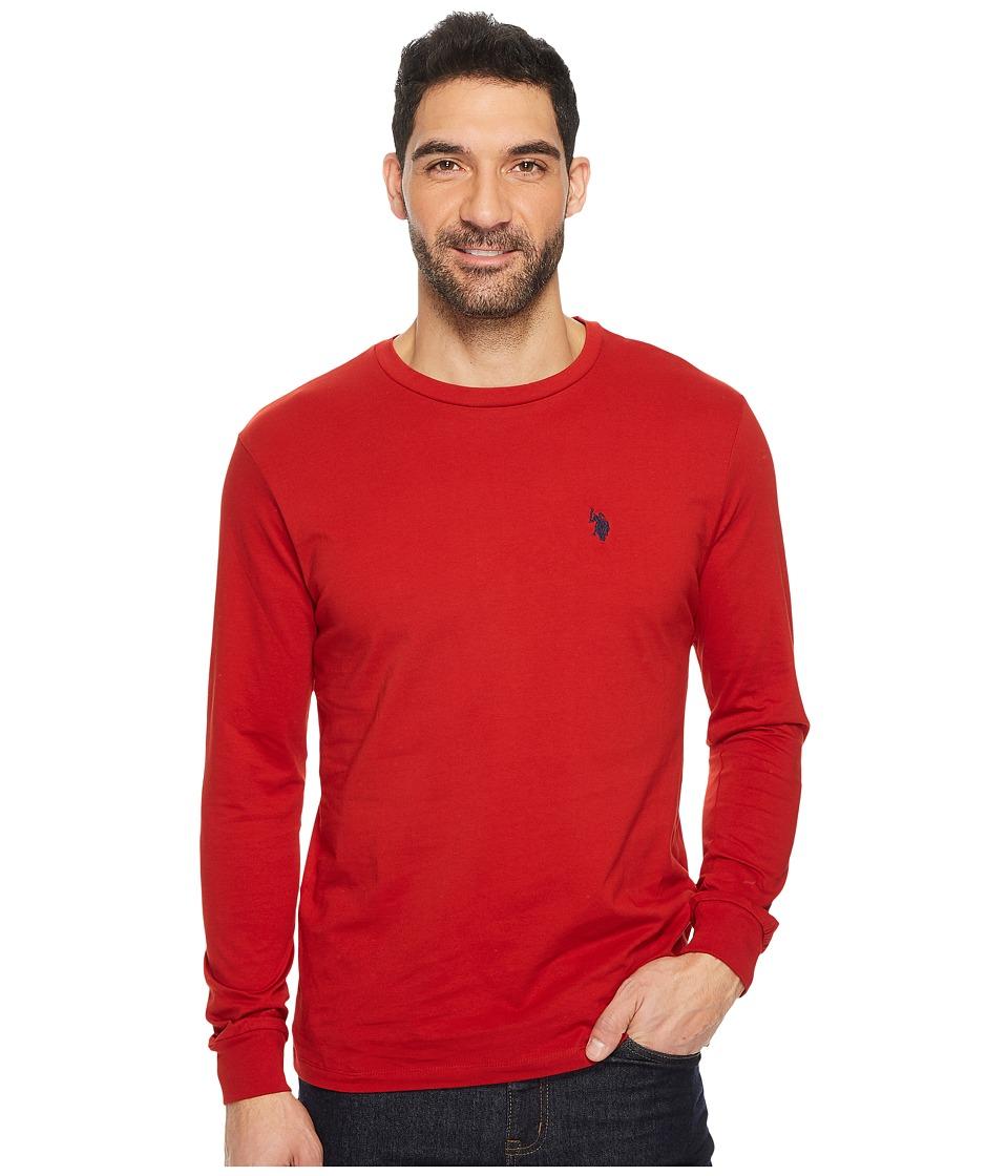 U.S. POLO ASSN. - Long Sleeve Crew Neck T-Shirt (Barn Red) Men's T Shirt