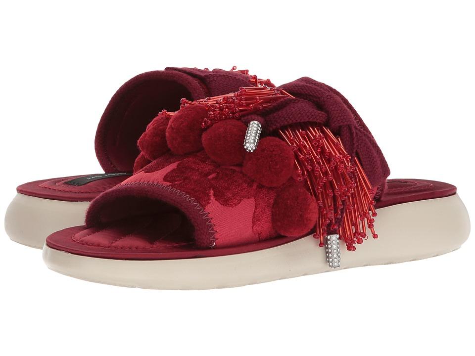 Marc Jacobs Emerson Pompom Sport Sandal (Red) Women