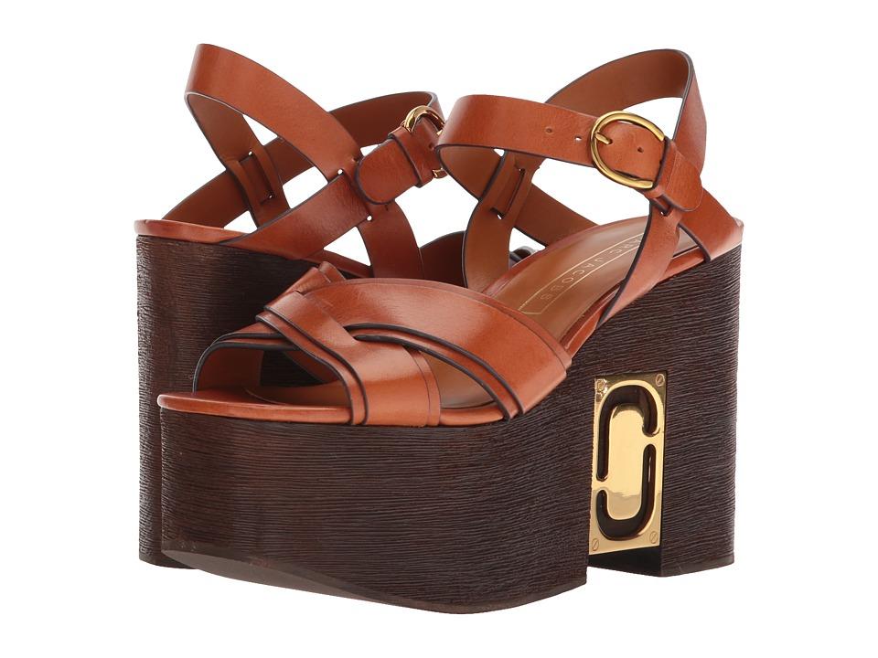 Marc Jacobs Paloma Status Wedge Sandal (Luggage) Women