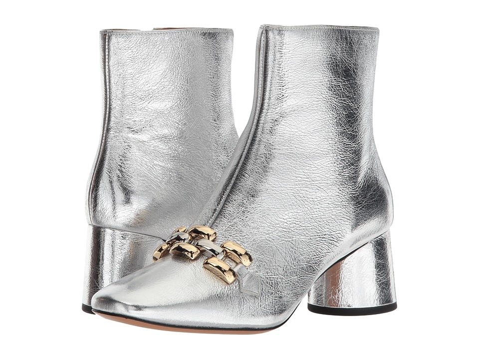 Marc Jacobs Remi Chain Link Ankle Boot (Silver) Women