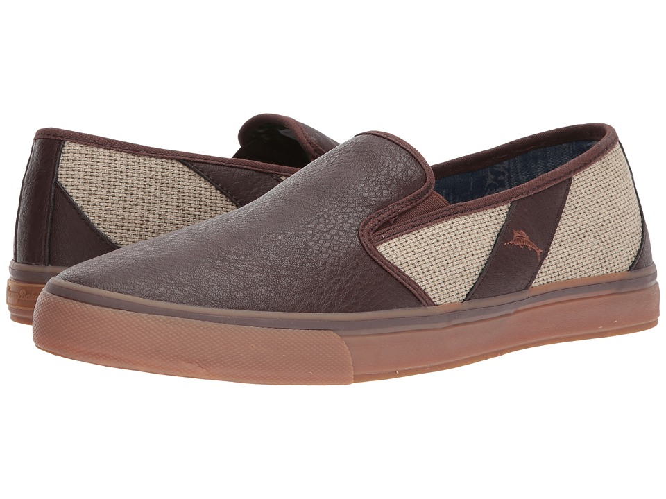 Tommy Bahama - Pacific Crest (Cream/Brown) Men's Slip on Shoes