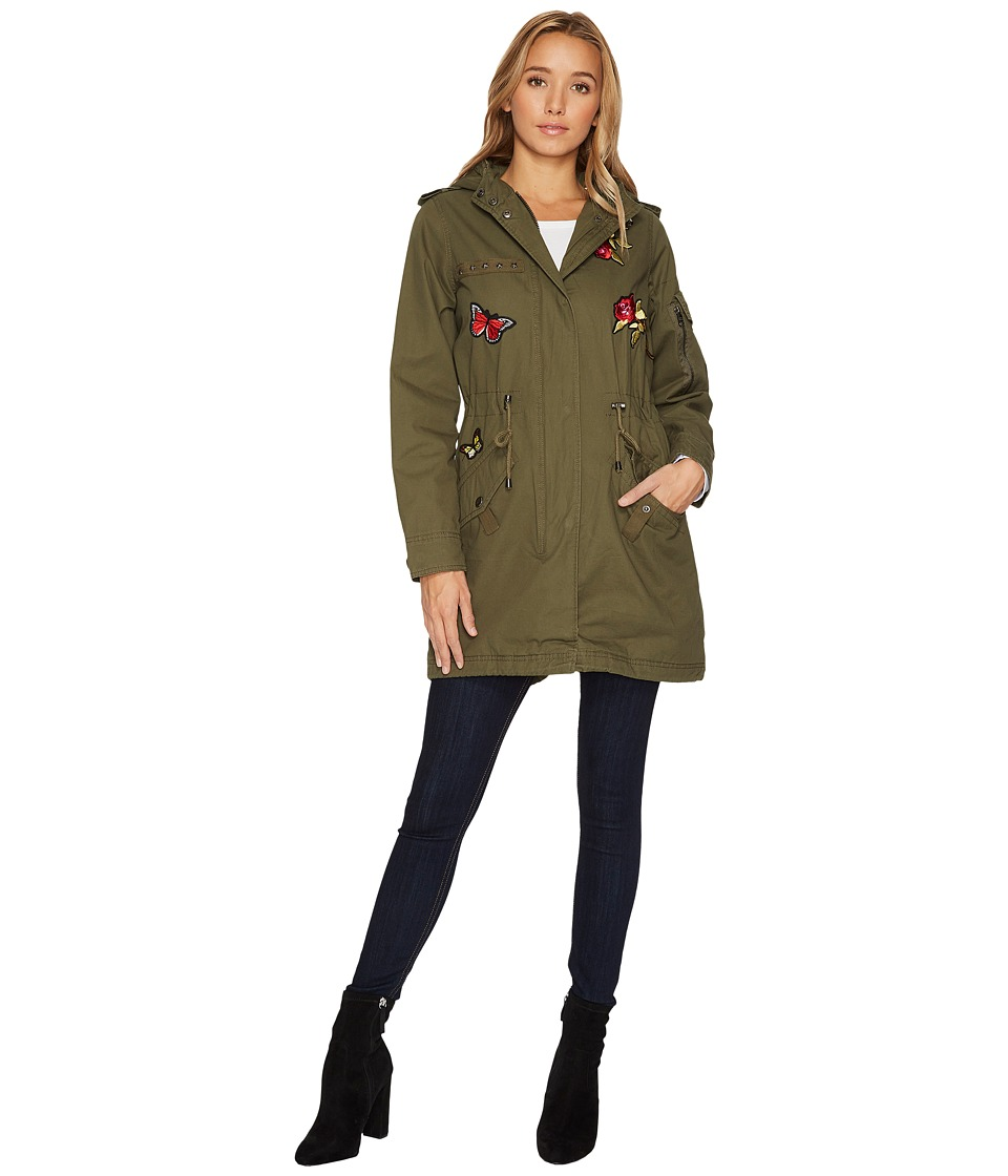 Steve Madden - Parka Jacket (Olive) Women's Coat
