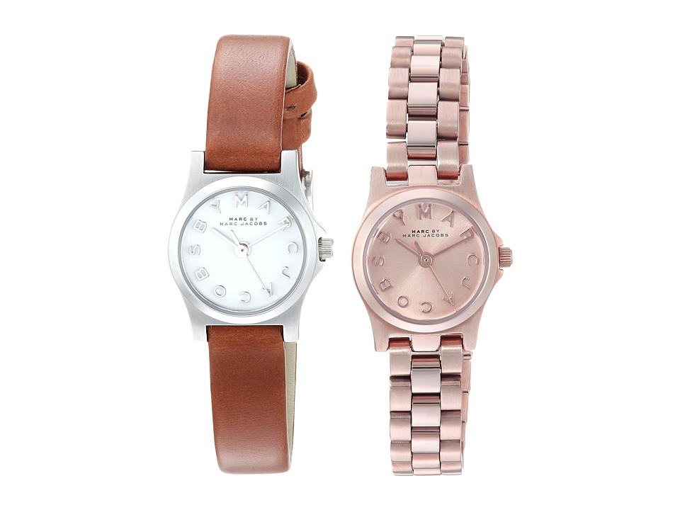 Marc by Marc Jacobs - Henry Two-Watch Set (Rose Gold/Brown Leather) Watches