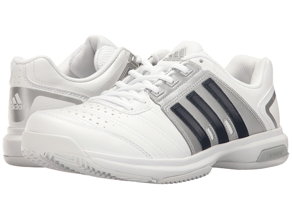 adidas - Barricade Approach (White/Collegiate Navy/Metallic Silver) Men's Shoes