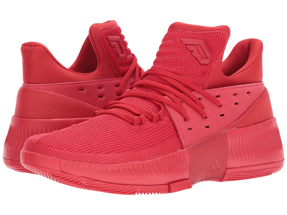 adidas - Dame 3 (Scarlet/Scarlet/Scarlet) Men's Shoes
