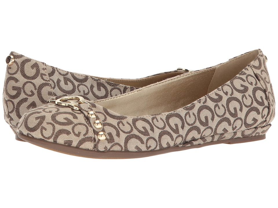 G by GUESS Finnish2 (Taupe Logo Fabric) Women