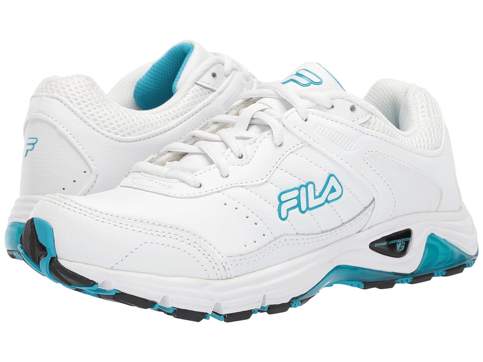Fila - Memory Cool Sport (White/Neon Blue/High-Rise) Women's Shoes