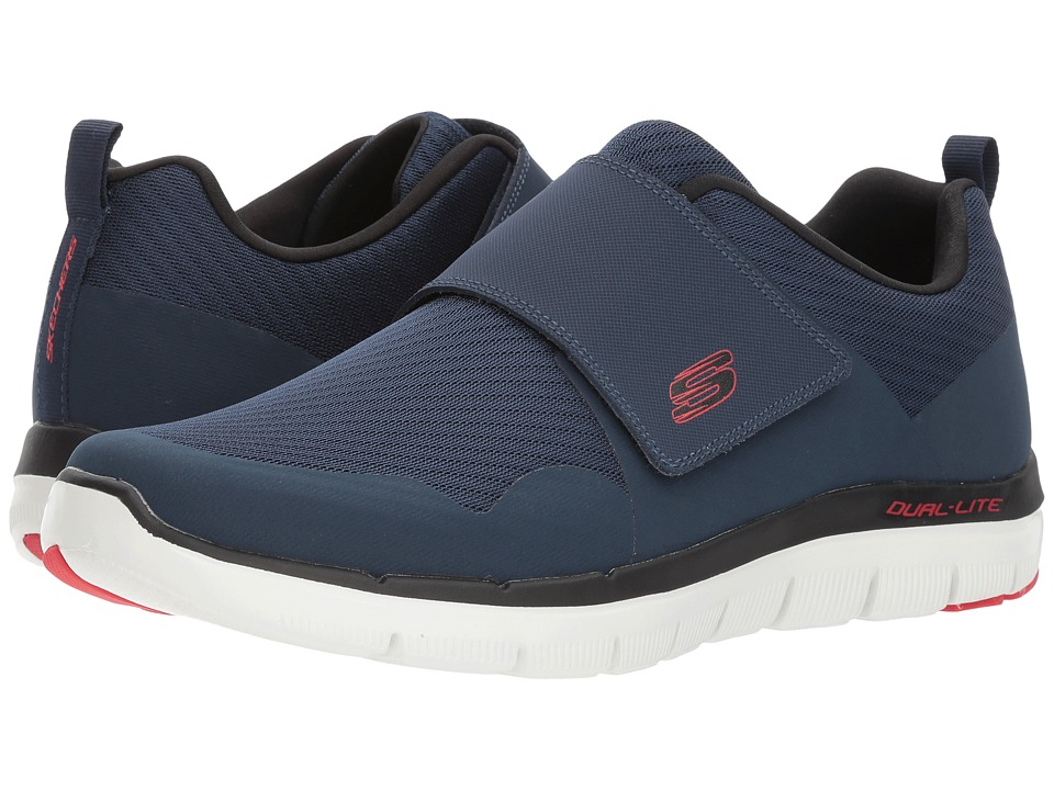 SKECHERS - Flex Advantage 2.0 Gurn (Navy/Red) Men's Shoes