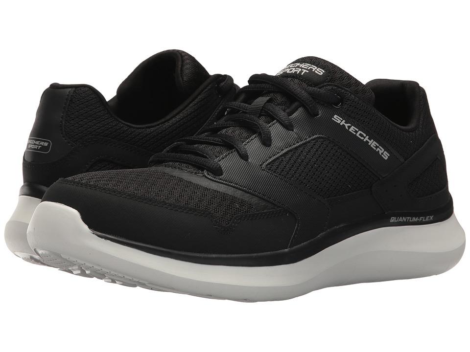 SKECHERS - Quantum Flex Hudzick (Black/White) Men's Shoes