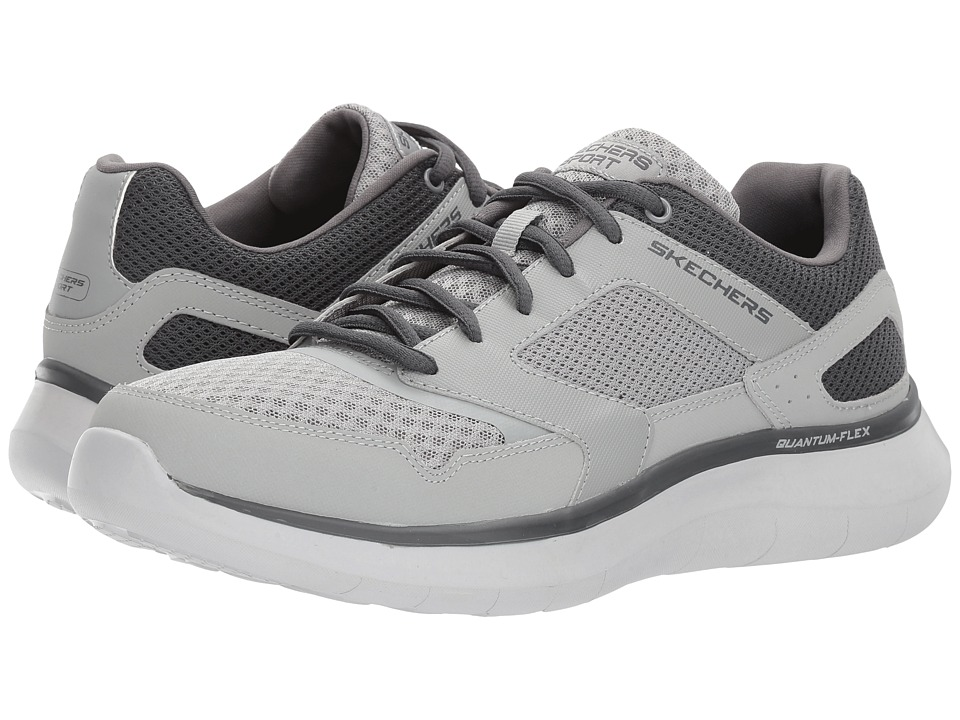 SKECHERS - Quantum Flex Hudzick (Gray/Charcoal) Men's Shoes