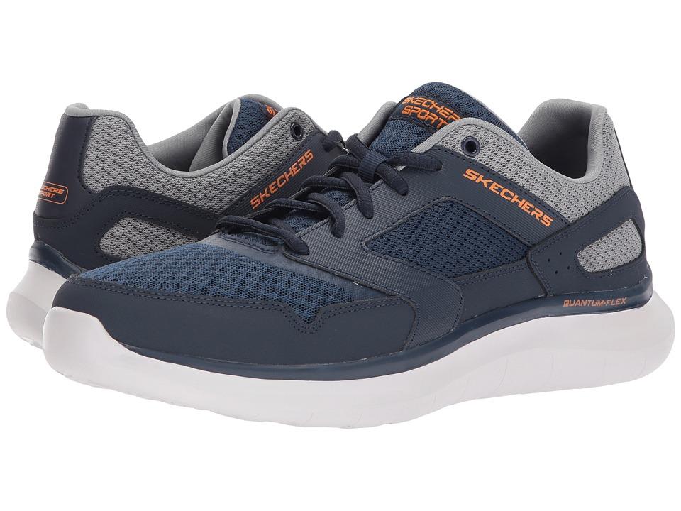 SKECHERS - Quantum Flex Hudzick (Navy/Gray) Men's Shoes