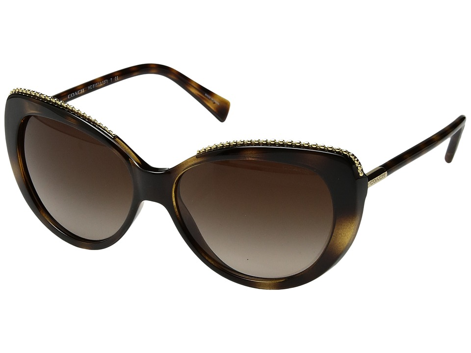 COACH - 0HC8157 (Tortoise) Fashion Sunglasses