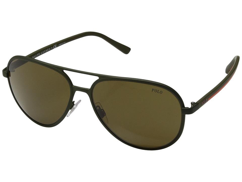 Polo Ralph Lauren - 0PH3102 (Brown) Fashion Sunglasses