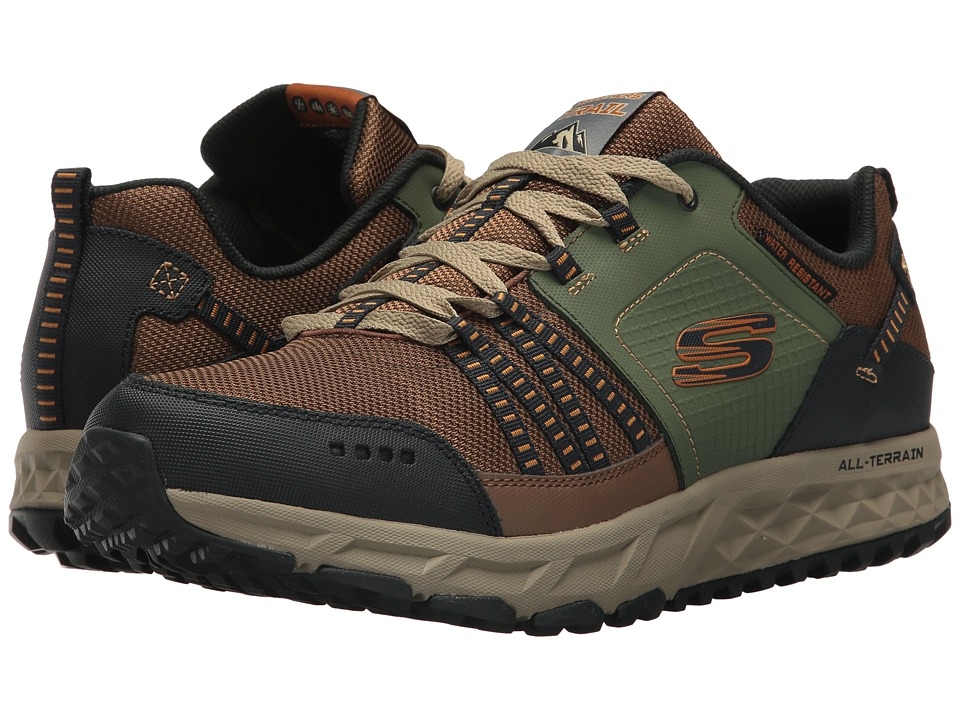 SKECHERS - Escape Plan (Brown/Green) Men's Shoes
