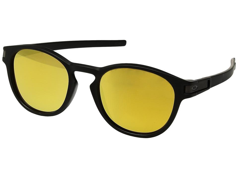 Oakley - Latch (A) (Matte Black with 24K Iridium) Fashion Sunglasses