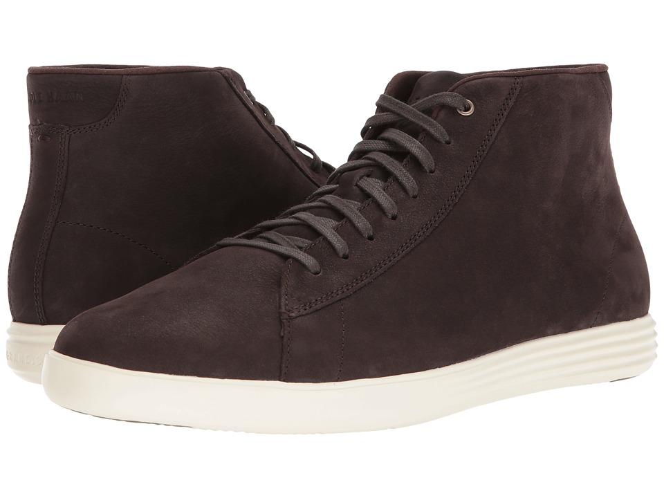 Cole Haan - Grand Crosscourt High Top (Dark Roast Nubuck/Ivory) Men's Shoes