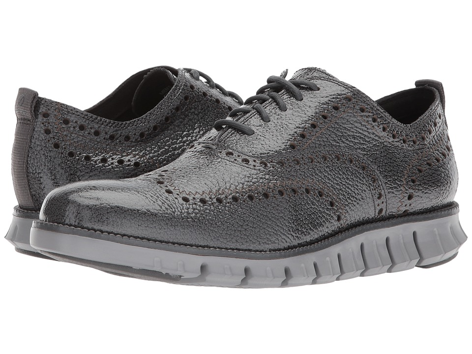 Cole Haan ZeroGrand Wingtip Oxford II (Gray Pinstripe/Ivory) Men