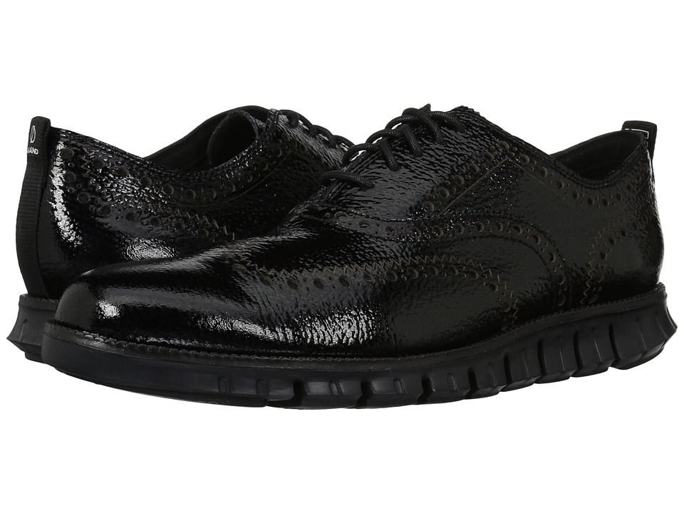 Cole Haan ZeroGrand Wingtip Oxford II (Black/Black) Men