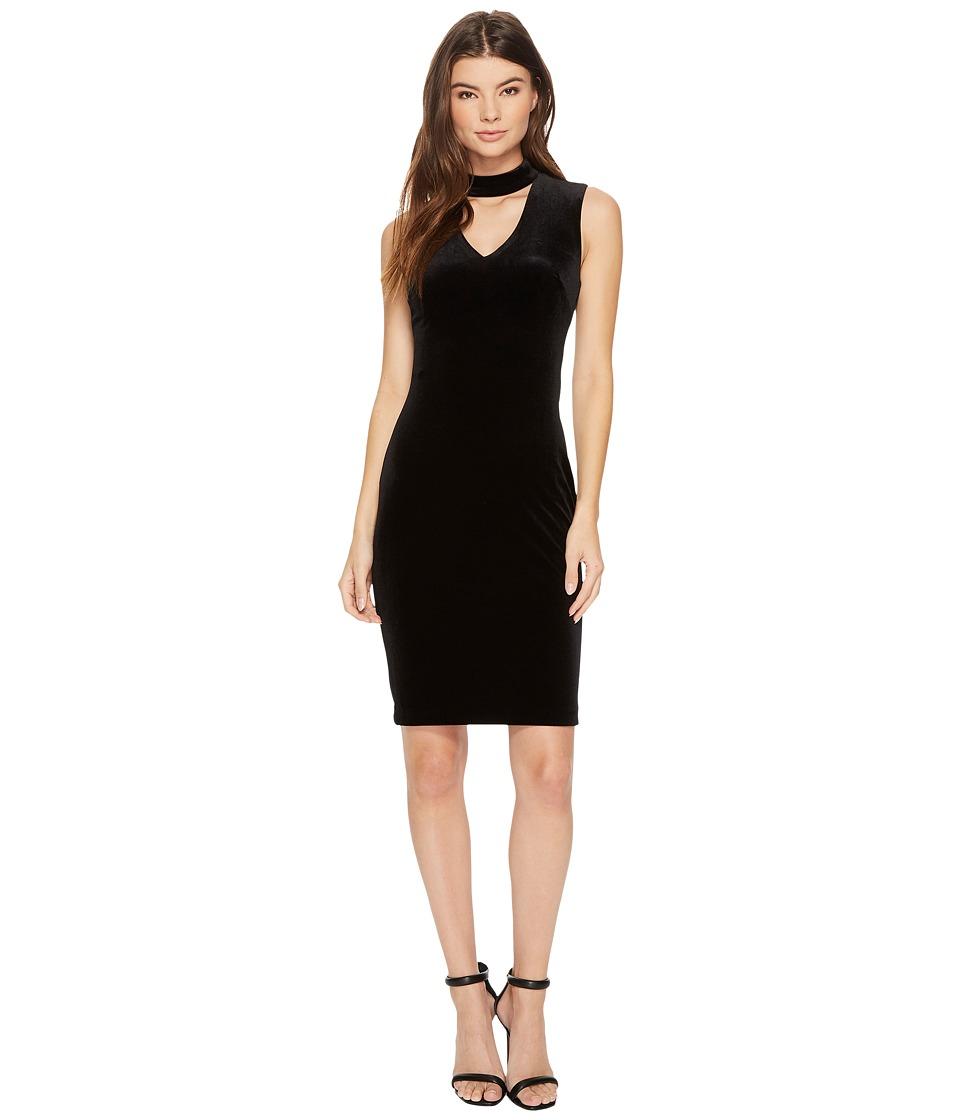 Calvin Klein Keyhole Velvet Sheath CD7V135V Black Dress