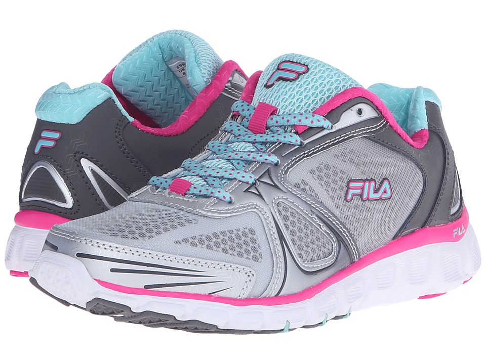 Fila Memory Solidarity (Pewter/Aruba Blue/Pink Glo) Women