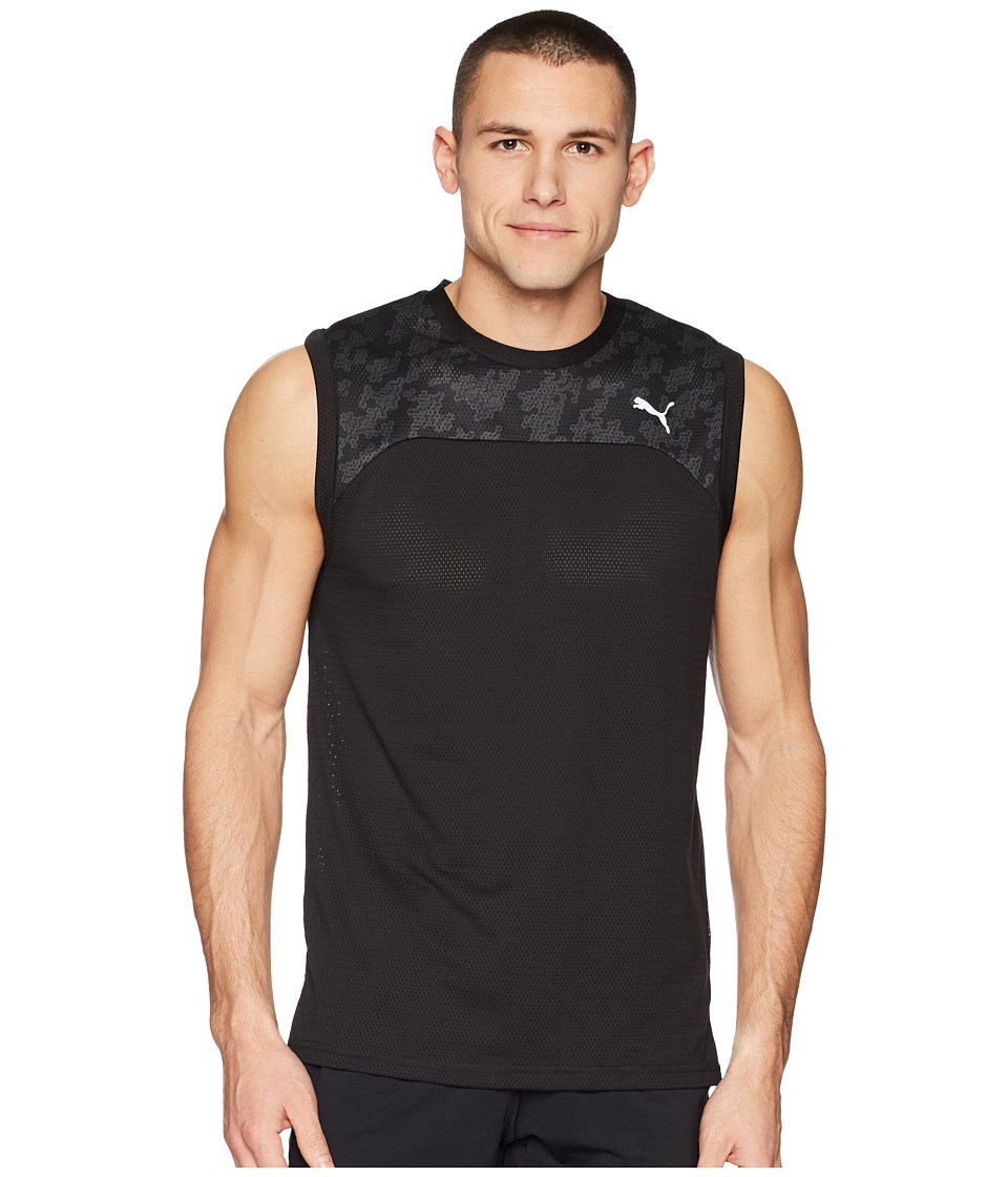 PUMA Oceanaire Mesh Sleeveless Tee (PUMA Black) Men