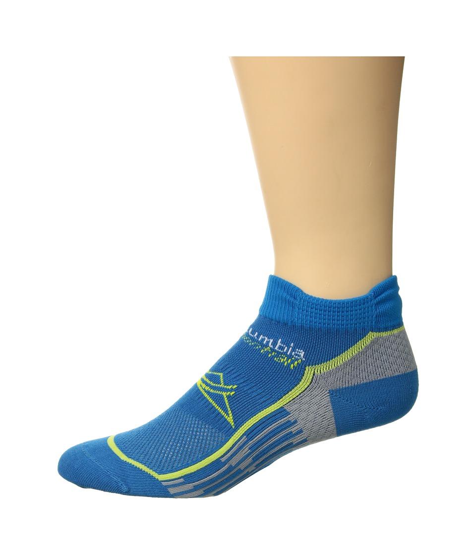 Columbia Trail Running Nilit Breeze Lightweight Low Cut Socks 1-Pack (Compass Blue) Low Cut Socks Shoes