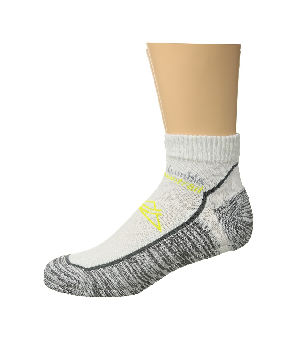 Columbia Trail Running XS Technology Lightweight Low Cut Socks 1-Pack (White) Low Cut Socks Shoes